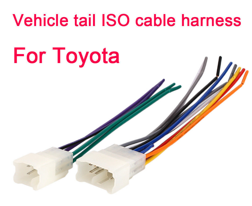 Iso Wire Harness Harness Connector Durable for A Aftermarket Radio 45W Auto Car